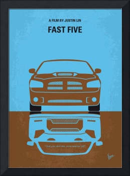 No207-5 My Fast Five minimal movie poster
