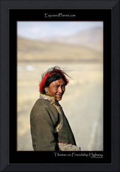 Tibetan man on the Friendship Highway