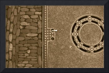 manhole cover and brickwork freiburg germany