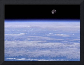 View of Moon From Space Shuttle Discovery 1998
