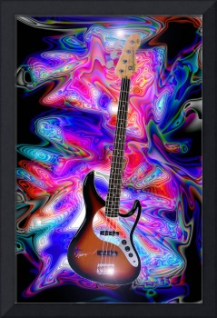 Psychedelic Bass Guitar