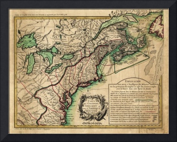 Map of the East Coast of America (1756)