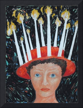Girl with a Candle Hat