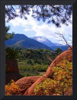 Pikes Peak framed 2561