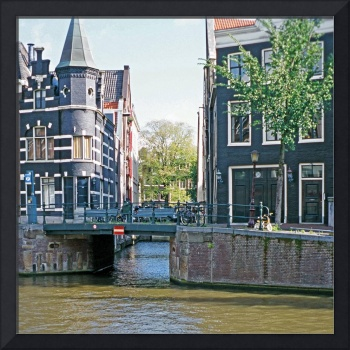 35Canal Houses with Bridge, Amsterdam