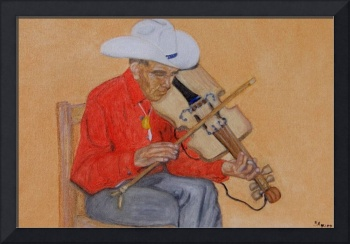 Tarahumara Man and Violin