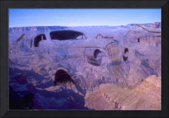 Grand Canyon Car - Photo Art Collage