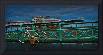 Yellow Bicycle at Brighton Pier