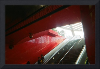 Red Subway by Mary Rachel Cowles