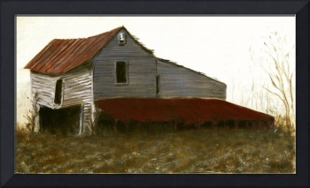 Fine Art Oil Painting North Carolina Barn