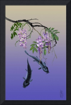 Two Fish Under a Wisteria Tree