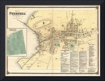 Vintage Map of Peekskill New York (1867)