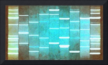 Vintage Turquoise DNA Art Paintings on Canvas
