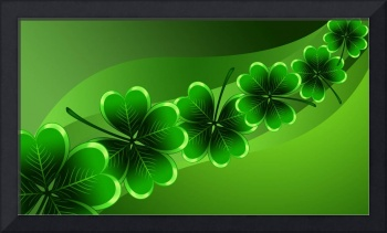 Saint Patricks Day Leaf Clovers Background