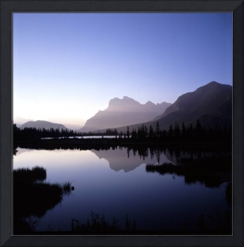 Vermillion Lakes in Banff National Park in Alberta