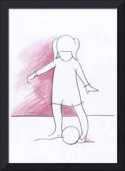 Girl playing with a ball