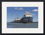 Greate Lakes Bulk Carrier and Two Tugboats by Rich Kaminsky
