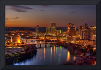 Austin Skyline at Dusk, HDR image