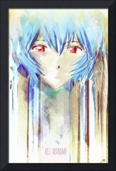 Rei Ayanami Digital Painting from Evangelion