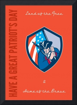 Patriots Day Greeting Card American Patriot Brandi