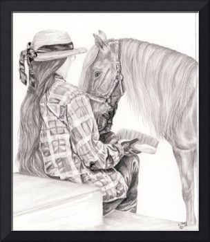 Quiet moment - Miniature horse