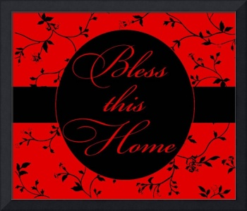 bless this home red and black