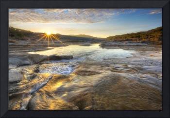 Texas Hill Country Images - Pedernales Falls Sunri