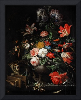 The Overturned Bouquet by Abraham Mignon