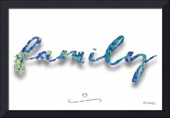 Family. Inspirational Wall Art
