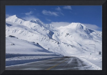 Thompson Pass during Winter just north of Valdez,