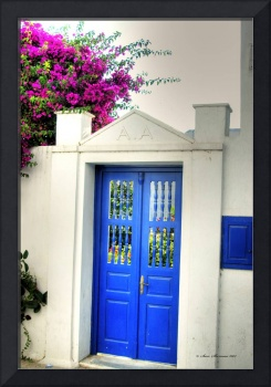 Mykonos Blue Door