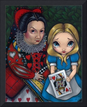 Alice and the Queen of Hearts