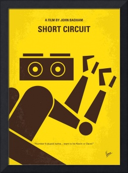 No470 My Short Circuit minimal movie poster