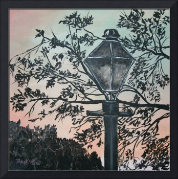 Street Light Vintage Art Deco Print