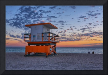 Moments before Sunrise ~ 21st Street Lifeguard Tow