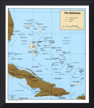 Map of The Bahamas (1986)