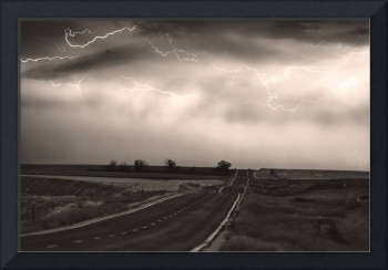 Storm Chase IN Black and White Sepia