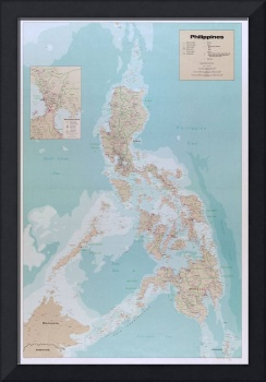 Map of The Philippines (1990)