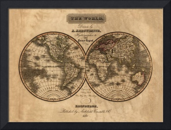 Map of the World in 1823