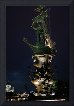 Monument to Peter the Great at Night
