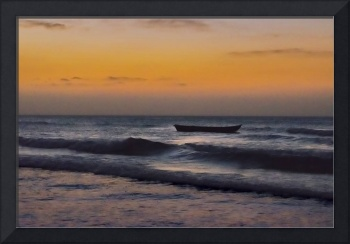 Small Boat at Sea Jericoacoara Brazil