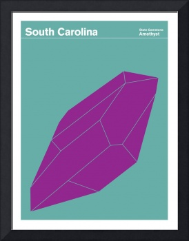 State Posters - South Carolina State Gemstone: Ame