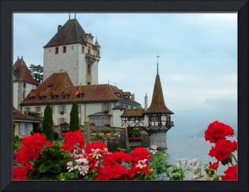 Oberhofen Castle and Flowers