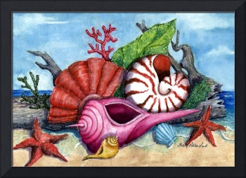 Beach Shells Painting