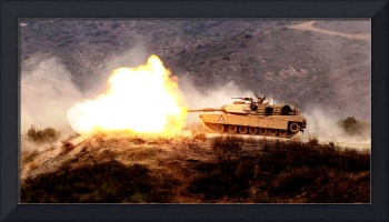 Marine Corps M1 Abrams Tank During Combat