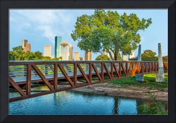 Houston Skyline from Pedestrian Bridge