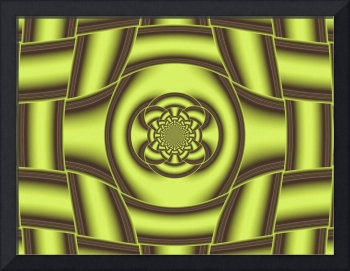 Abstract Gold Fractal Decoration