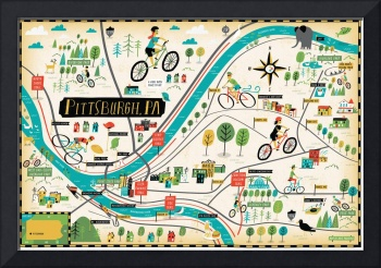 Illustrated Map of Pittsburgh by Nate Padavick