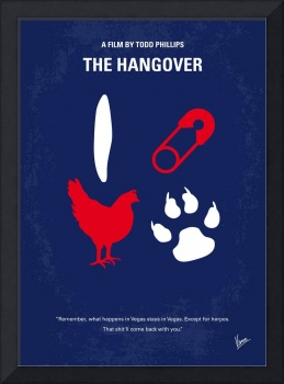 No145 My THE HANGOVER PART 1 minimal movie poster