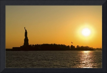 Sunset Over Liberty Island